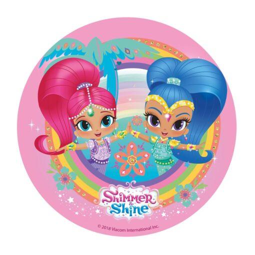 Vafă comestibilă Shimmer & Shine 20CM-Dekora