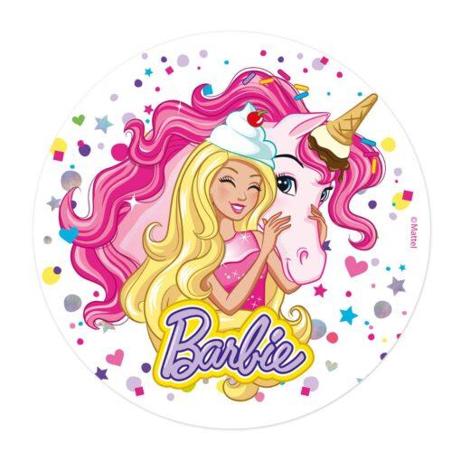 Vafă comestibilă Barbie- 20CM-Dekora