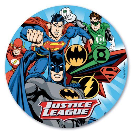 Vafă comestibilă Justice League-20CM-Dekora