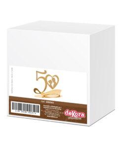 Topper Tort– Aniversare Nuntă de Aur- 20X16 CM– Dekora