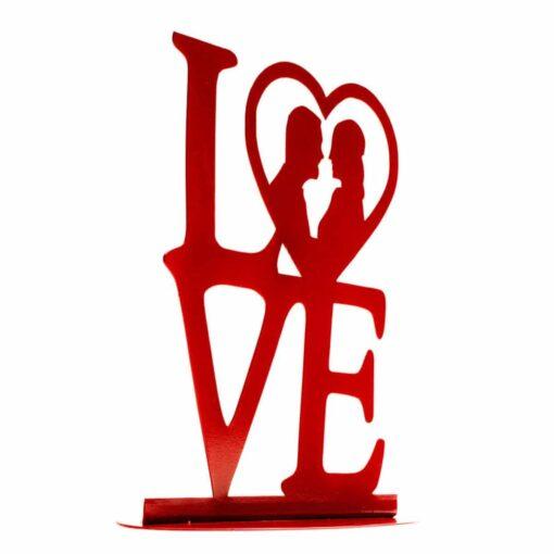 Topper Tort pentru nuntă – LOVE- 19X19 CM– Dekora