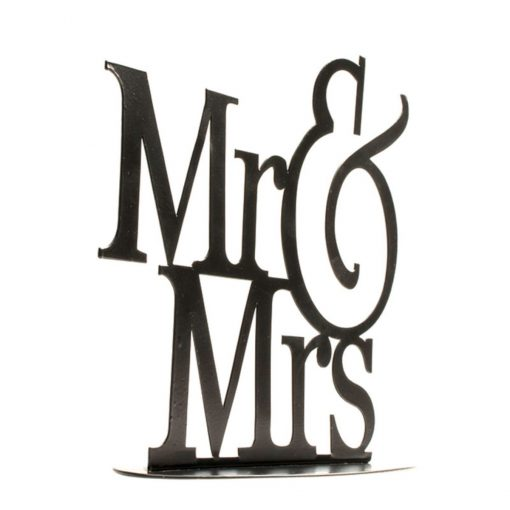 Topper Tort pentru nuntă – MR&MRS- 22X18 CM– Dekora
