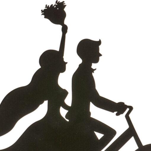 Topper Tort , Cuplu cu bicicletă - 18 CM– Dekora