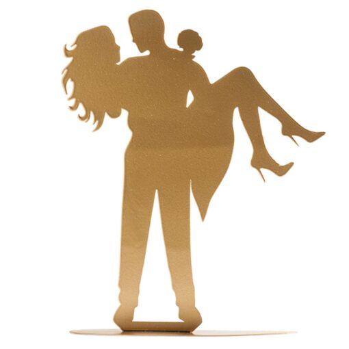 Topper Tort pentru nuntă – Cuplu casătorit- 18 CM– Dekora