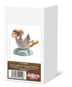 Figurină de tort – Barză în zbor cu copil, albastru, 10 CM - Dekorat