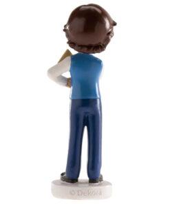 Decorațiune, Figurina tort necomestibilă – BĂIAT CU AVION 13 CM – Dekora
