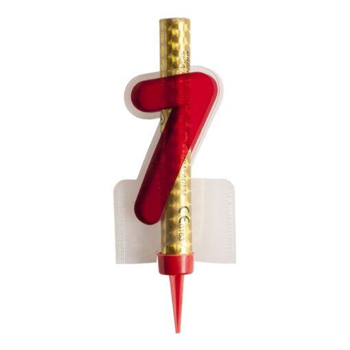 Artificii pentru tort, Numărul 7 - 12CM- Dekora