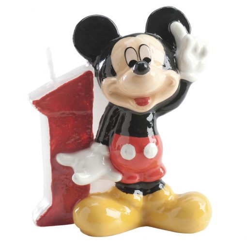 Lumânare pentru zi de naștere cifra 1 Mickey - 6,5 CM - Dekora