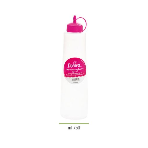Dispenser plastic -culoare fucsia -750 ml -Decora