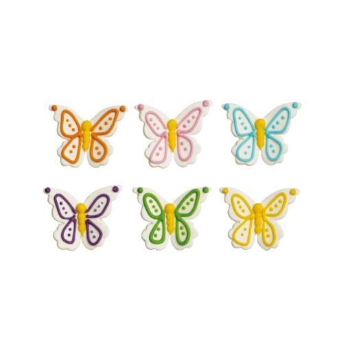 Set decorațiuni din zahăr-Fluturi-Decora