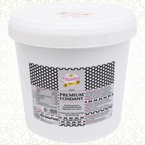 Pastă de zahăr Premium- Alb-7 kg- Shantys