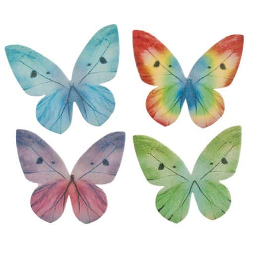 Set 87 decor Fluturi comestibile din Vafa - 3-6 CM- Dekora