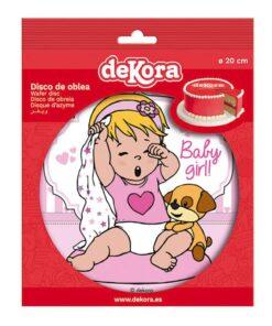 Imagine comestibilă - Fetiță roz - 20 CM - Dekora