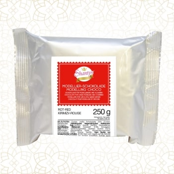 Ciocolată modelatoare-Roșu-250g-Shantys