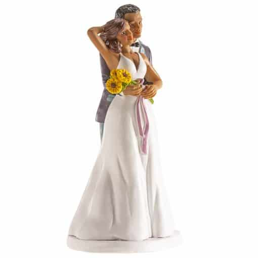 Figurină de tort nuntă – Cuplu căsătorit în Roma - 18 cm - Dekora