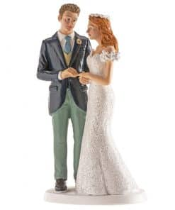 Figurină de tort nuntă – Cuplu căsătorit în Oslo - 16 cm - Dekora