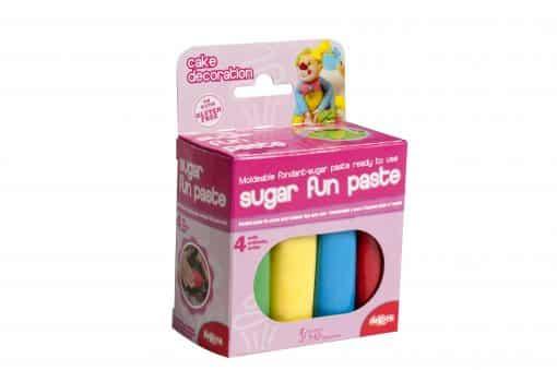 Pastă de zahăr - set 4 culori de bază - 400 g- Dekora