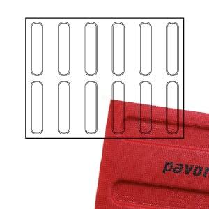 Fromă silicon -Micro Perforata -Eclere-400x300mm-Pavoni