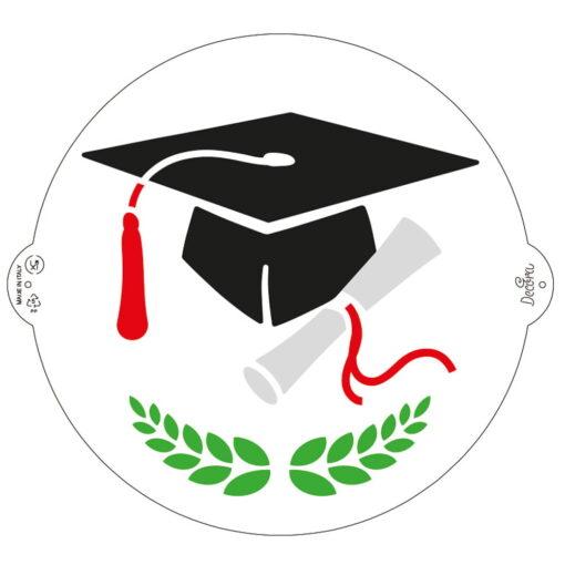 Sablon -Pălărie absolvent - 25 cm - Decora