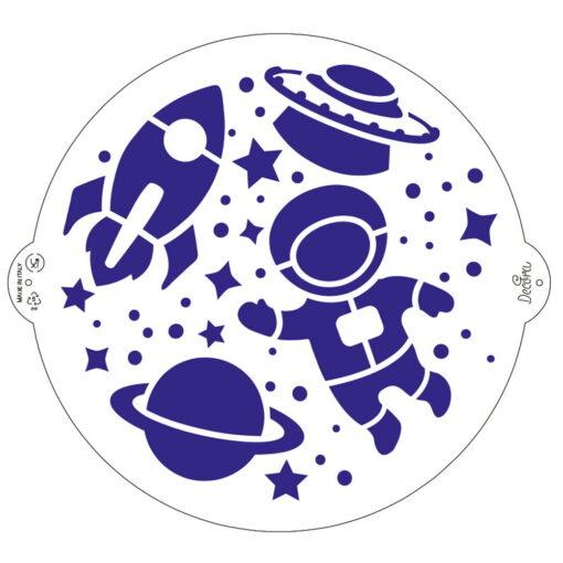 Șablon pentru tort - Spațial-25 cm - Decora