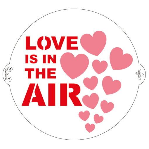 Șablon - Love is in the air- 25 cm - Decora