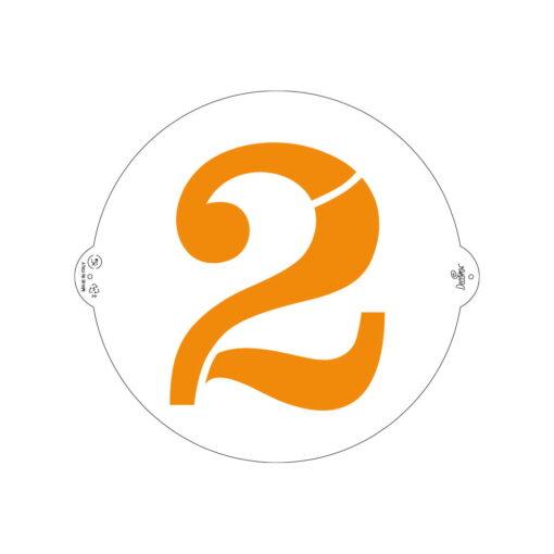 Șablon cifra 2 - 25 cm- Decora