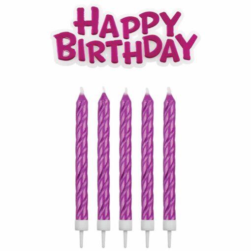 Set 17 Lumănări pentru zi de naștere-Pink-PME