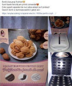 Aparat Electric -1600W- pentru copt Forme de Nuci - Anya Cooking [Transport GRATIS]