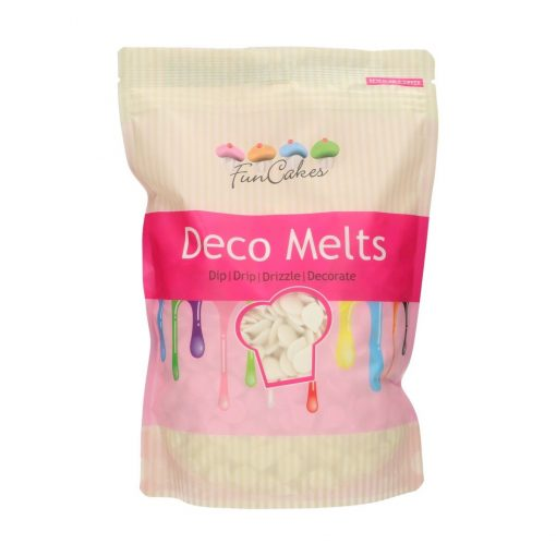 Ciocolată glazuri (Deco Melts)-Extrem White-1kg-Funcakes
