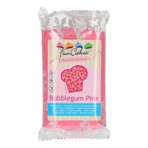 Fondant cu gust de Bubble Gum, Roz- 250g- FunCakes