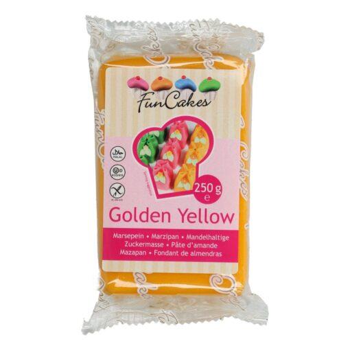 Marțipan galben auriu-250g - FunCakes
