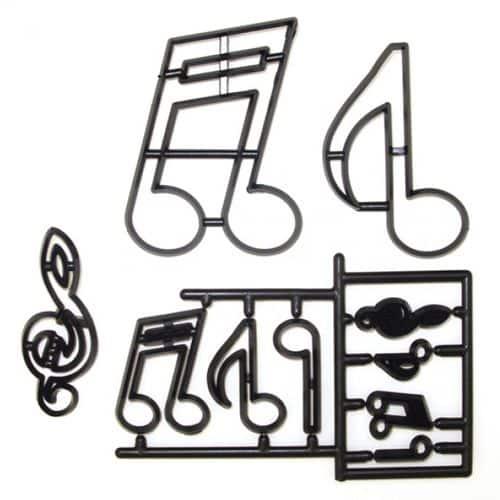 Decupator - Formă de note muzicale - Patchwork