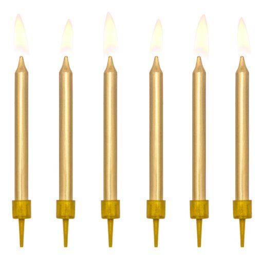 Lumănări -6 buc- culaore auriu -Party Deco