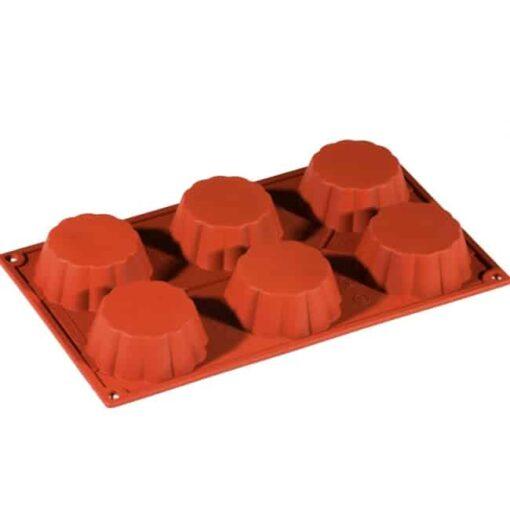 Formă de silicon-Brioșe-7.9x3cm-Pavoni