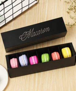 Cutie macarons negru