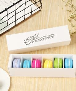 Cutie macarons alb