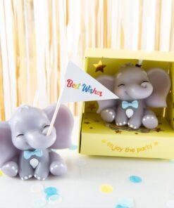 Lumanare tort elefant 3d