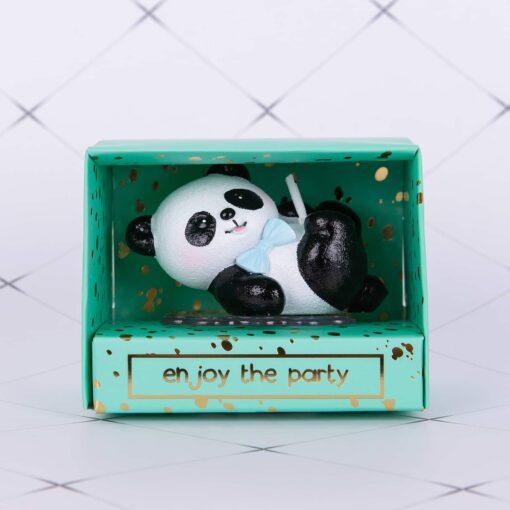 Lumanare tort 3d panda
