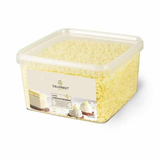 Bucle din ciocolată albă-White Bloosom-1kg-Callebaut Mona Lisa