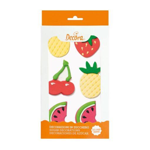 Set 6 buc Decorațiune comestibile-Fructe Tropicale- 3 - 4 cm-Decora