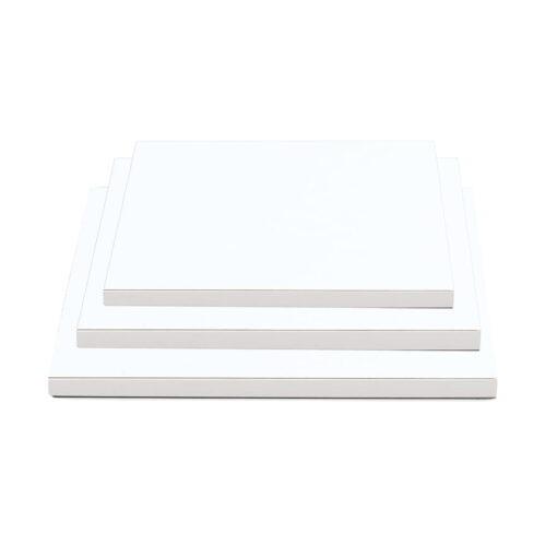 Cake Drum pătrat-Alb-30 x 30 cm cu 1.2 cm grosime-Decora