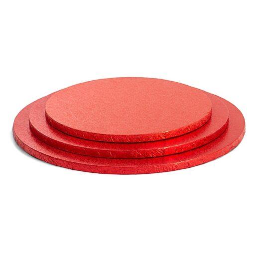 Caker Drum rotund-Roșu-Ø 25- 1.2 cm grosime -Decora