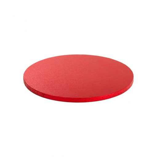 Cake Drum-Roșu-Ø 30cm cu 1,2 cm-Decora