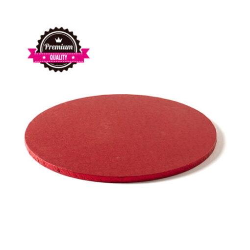 Cake Drum-Roșu-Ø 30 cu 1.2 cm grosime-Decora