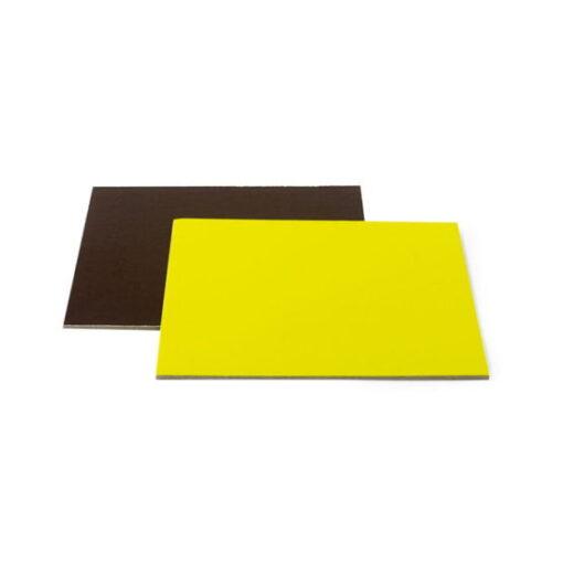 Disc tort pătrat-Maro/Lime-Ø 28 cu 3 mm-Decora