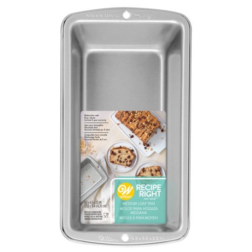 WILTON RECIPE RIGHT MED. LOAF PAN 8,5X4,5