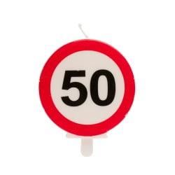Lumânare zi de naștere - Semn interzis, cifra 50 – 6,3 CM - Dekora