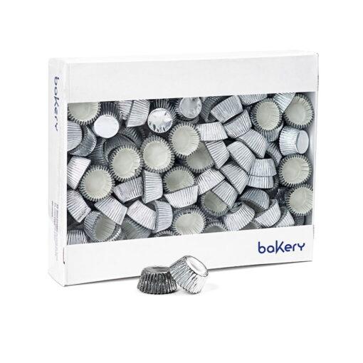 Set 30 buc forme de mini brioșe-Argintii-32 x 22 h mm-Decora