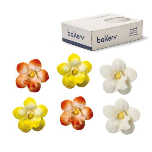 Sortiment 30 buc decorațiuni zahar-Mini orhidee, 1buc-3,5cm-Decora