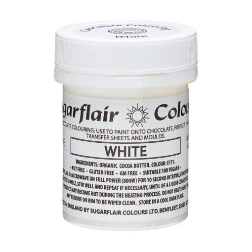 Colorant alimentar ciocolată- White / Alb -35g-Sugarflair